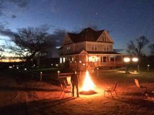 <p>Keeping the fire burning at Jim River Ranch!  See you all again soon! </p>